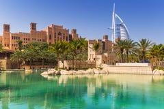 Madinat Jumeirah в Дубай, ОАЭ Стоковые Фотографии RF