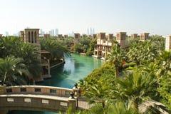 Madinat jumeirah. And burj al arab, united arab emirates Stock Photography