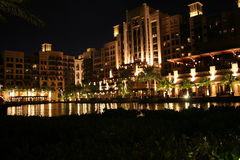 Madinat Jumeirah. By night, United Emirates, Dubai, Luxus Hotel Stock Photography
