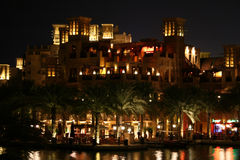Madinat Jumeirah. By night, United Emirates, Dubai, Luxus Hotel Stock Images