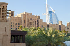 Madinat Jumeirah in Doubai Stock Afbeeldingen