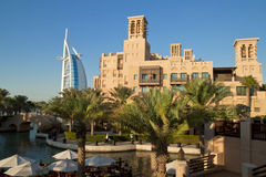Madinat Jumeirah in Dubai Stockbilder
