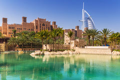 Madinat Jumeirah in Dubai, UAE Lizenzfreie Stockfotos