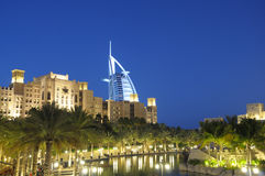 Madinat Jumeirah at dusk, Dubai Stock Photography