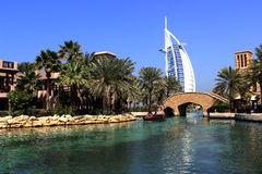 Madinat Jumeirah em Dubai fotos de stock
