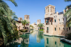 Madinat Jumeirah hotel.Dubai,UAE. DUBAI, UAE -OCTOBER 10: Views of Madinat Jumeirah hotel, on October 10, 2014, Dubai, UAE. Madinat Jumeirah - luxury 5 star royalty free stock photo