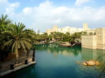 Madinat Jumeirah Resort. Lake View of Madinat Jumeirah Resort in Dubai, United Arab Emirates Royalty Free Stock Photo