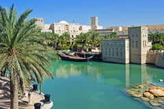 Madinath Jumeirah. Traditional arabic archtecture and nature Stock Image