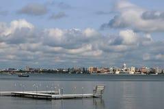 Madison śródmieścia linia horyzontu Zdjęcie Royalty Free