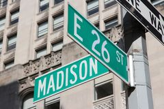 Madison Avenue Royalty Free Stock Images