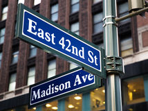 Madison Avenue Royalty Free Stock Photos