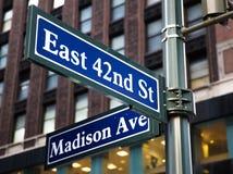 Madison Avenue Royalty Free Stock Photos