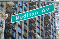 Madison Avenue in New York City Stock Images