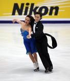 Madison Chock & Greg Zuerlein (USA). Madison Chock & Greg Zuerlein (USA) perform at Ice Dance-Compulsory dance of Samsung Anycall Cup of China 2009, at Stock Photo
