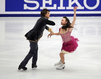 Madison Chock and Greg Zuerlein (USA). Perform in the Ice Dance – Free dance of Samsung Anycall Cup of China 2009, at Beijing Capital Gymnasium, Beijing Royalty Free Stock Photography