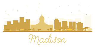 Madison City skyline golden silhouette. Stock Photography