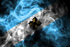 Madison city smoke flag, Wisconsin State, United States Of America.  royalty free stock images
