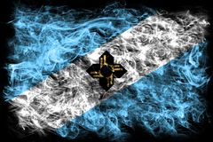 Madison city smoke flag, Wisconsin State, United States Of Ameri Royalty Free Stock Photography