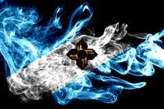 Madison city smoke flag, Wisconsin State, United States Of Ameri. Ca Stock Illustration