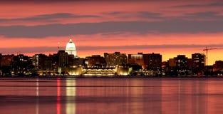 Madison downtown skyline. Stock Image