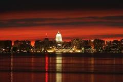 Madison downtown skyline. Royalty Free Stock Photos