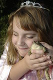 Madison and Hopper 3. Princess Girl and Frog Together Royalty Free Stock Photo