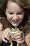 Madison and Hopper 4. Princess Girl and Frog Together Royalty Free Stock Photography