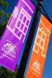 Madison Indiana-banners stock foto