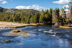 Madison River, Wyoming stock photography