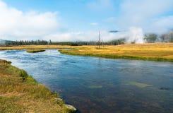 Madison rzeka przy Yellowstone parkiem narodowym, Wyoming, usa obraz stock