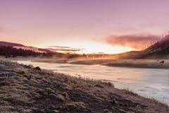 Madison rzeki wschód słońca Fotografia Stock