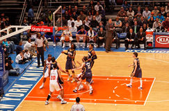 Madison Square Garden de Knicks X Indiana Pacers Images stock
