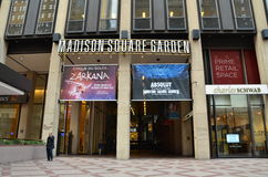 Madison Square Garden Entrance. Madison Square Garden, 7th Avenue entrance, Manhattan, New York City Royalty Free Stock Photo