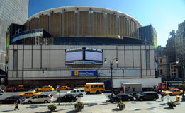 Madison Square Garden, New York. Madison Square Garden (MSG), a famous arena in New York City. Many large popular music concerts in New York City take place in Stock Images