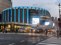 The Madison Square Garden in New York City at night Royalty Free Stock Photography