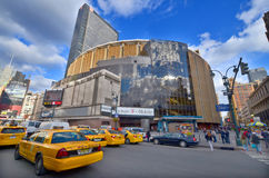 Madison Square Garden. NEW YORK CITY, NY OCT 3: Madison Square Garden is an indoor arena that sits above Penn Station. It is home to the NY Knicks (NBA), NY Royalty Free Stock Photos