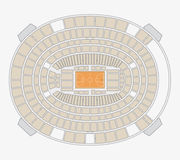 Madison square garden plan Royalty Free Stock Images