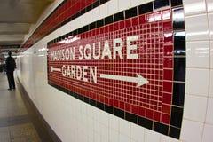 Madison Square Garden Subway Fotografía de archivo