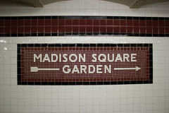 The Madison Square Garden Subway Station, NYC. This is the subway station stop for Madison Square Garden, Manhattan, New York Royalty Free Stock Photos