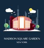 Madison Square Garden.Vector Illustration. Madison Square Garden.Vector Illustration Stock Photos