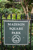 Madison Square Park in New York Stock Image