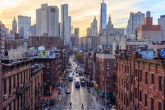 Madison Street NYC Foto de Stock Royalty Free