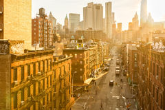 Madison street in NYC Chinatown Stock Image