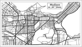 Madison USA City Map in Retro Style. Outline Map. Vector Illustration Stock Photo