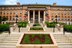 MADISON, WI - JULY 20th, 2014:  The beautiful entrance to the agriculture building at the University of Wisconsin, Madison Campus Stock Photo