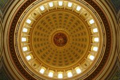 MADISON, WI - JULY 2014:  The Wisconsin capitol building is the most important landmark in the state Stock Photos