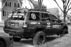 MADISON, WI - JUNE 26th, 2014:  Zombie Combatant Vehicile Royalty Free Stock Image