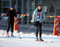 Madison Winter Festival. MADISON, WI-FEB. 16: Skiers participate in Madison Winter Fest, an event that brings 20,000 spectators and hundreds of winter athletes Stock Image