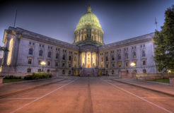 Madison, Wisconisn HDR. HDR image of Wisconsin State Capital building, Madison Royalty Free Stock Photography