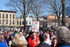 Madison Wisconsin protesta II Fotos de archivo libres de regalías